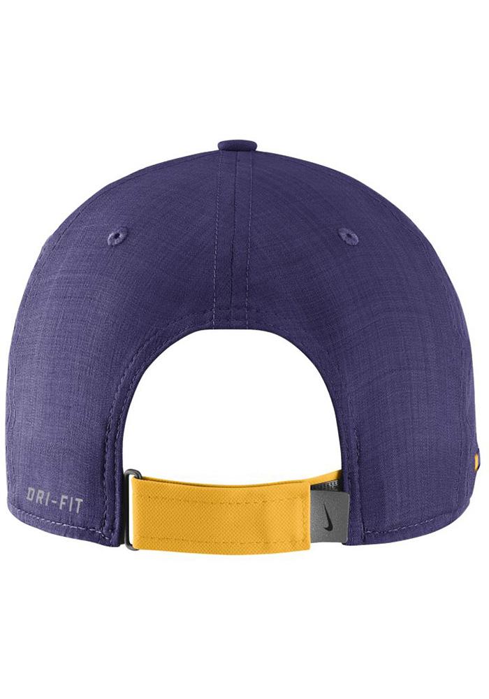 Nike LSU Tigers Mens Purple 2017 SIDELINE Adjustable Hat - Image 2