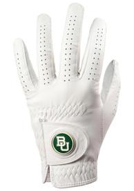 Baylor Bears White Team Logo Golf Gloves