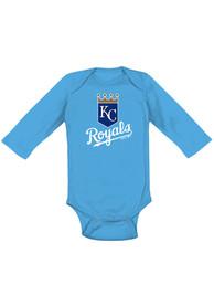 Kansas City Royals Baby Light Blue Primary One Piece