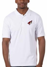 Arizona Coyotes Antigua Legacy Pique Polo Shirt - White