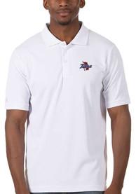Tulsa Golden Hurricanes Antigua Legacy Pique Polo Shirt - White