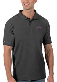 Tulsa Golden Hurricanes Antigua Legacy Pique Polo Shirt - Grey