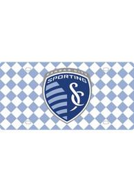 Sporting Kansas City Team Logo Checker Car Accessory License Plate