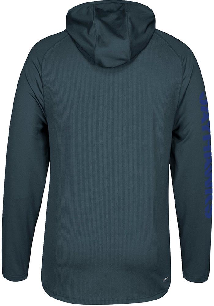Adidas Kansas Jayhawks Mens Grey Sideline Hood - Image 2
