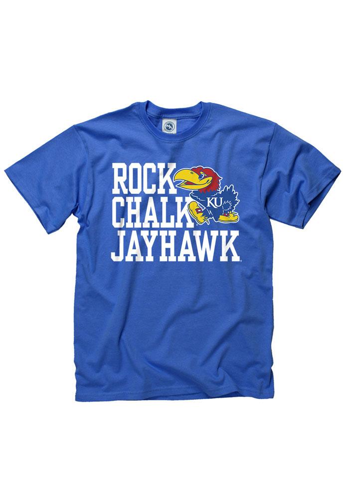 Kansas Jayhawks Blue Slogan Tee