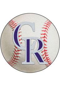 Colorado Rockies 27` Baseball Interior Rug