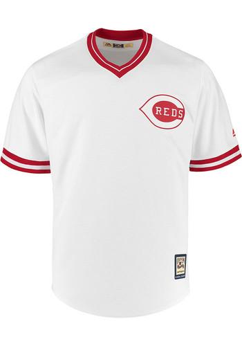 Johnny Bench Cincinnati Reds Grey N&N Fashion Player Tee