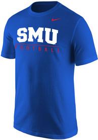 SMU Mustangs Nike Core Football T Shirt - Blue