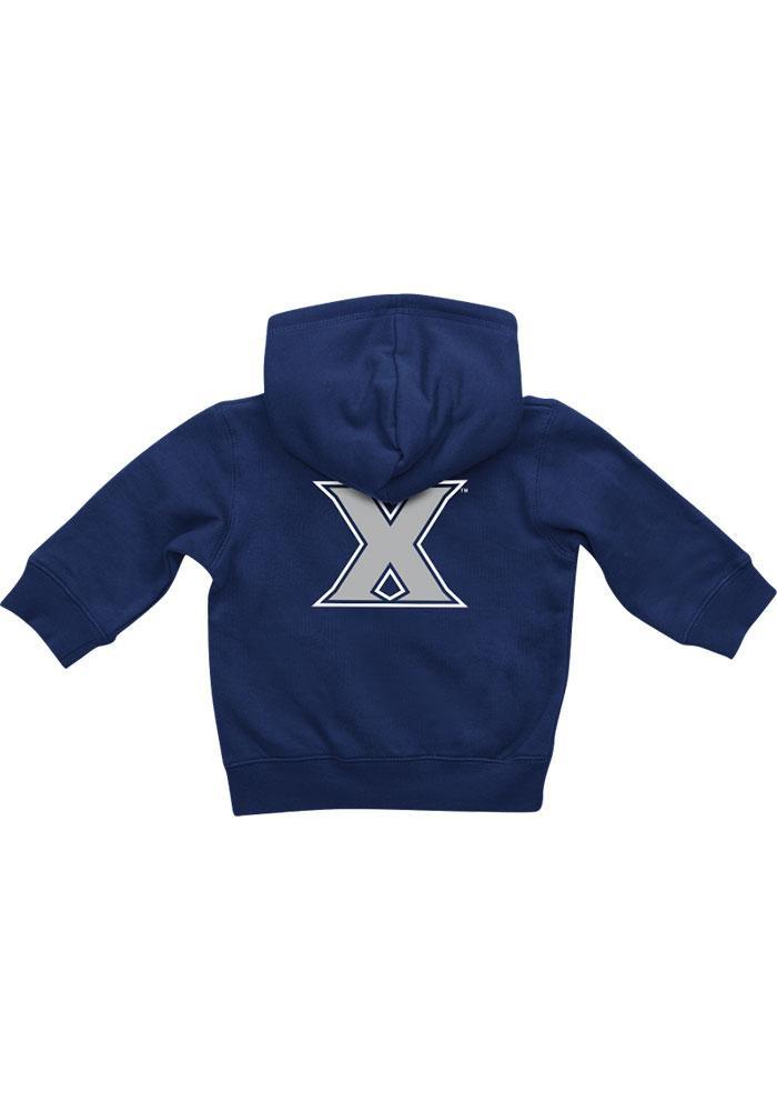 Colosseum Xavier Musketeers Baby Navy Blue Rally Loud Long Sleeve Full Zip Jacket - Image 1