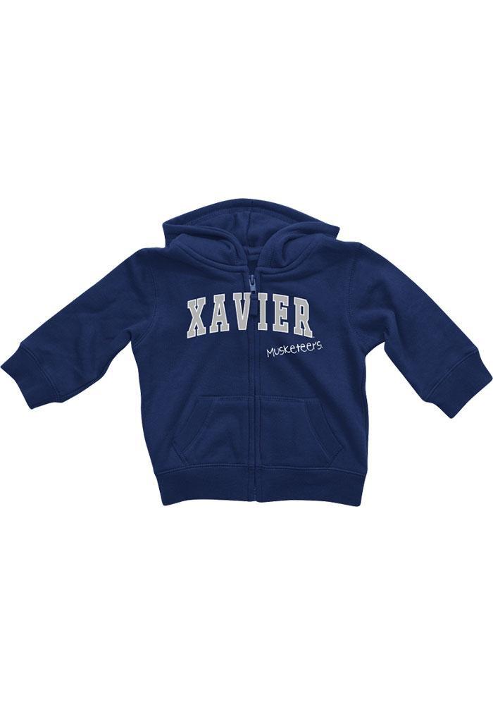Colosseum Xavier Musketeers Baby Navy Blue Rally Loud Long Sleeve Full Zip Jacket - Image 2