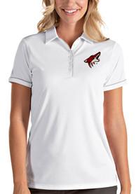 Arizona Coyotes Womens Antigua Salute Polo Shirt - White