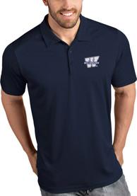 Antigua Washburn Ichabods Navy Blue Tribute Short Sleeve Polo Shirt
