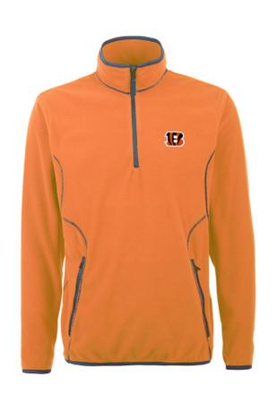 Antigua Cincinnati Mens Orange Ice 1/4 Zip Pullover