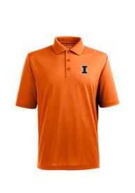 Illinois Fighting Illini Antigua Pique Xtra-Lite Polo Shirt - Orange