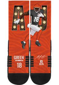 AJ Green Cincinnati Bengals Mens Orange Player Crew Socks