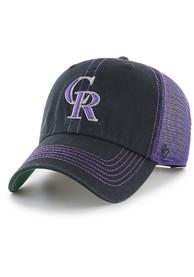 47 Colorado Rockies Trawler Clean Up Adjustable Hat - Black