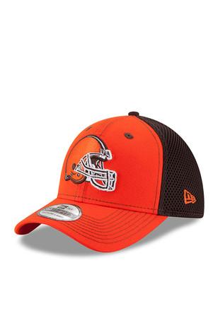 New Era Cleveland Browns Mens Orange Team Front Neo 39THIRTY Flex Hat