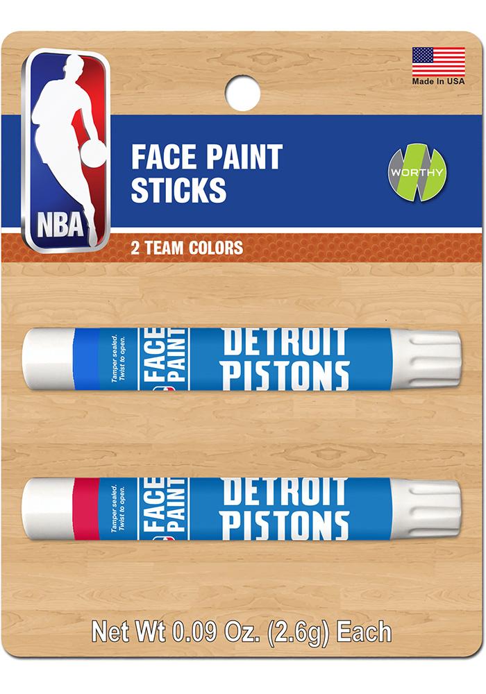 Detroit Pistons 2 Pack Team Color Face Paint - Image 1